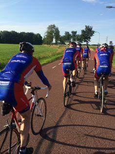 rondje wielrennen op 25 juni 2014 met wielervereniging Zuidbroek