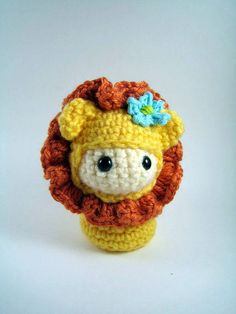 Adorable little kokeshi-style lion. $3.75 for the pattern (and lots of other cute ones by the same seller) on etsy.