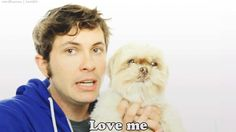 Tobuscus and Griffin..… not a problem, Man. I love adorable dorks and fluffy dogs.  I get to meet him if he goes to VidCon next year!!!!!