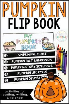 This pumpkin flip book is full of reading, writing, and science pumpkin activities. Students will work on the pumpkin life cycle, pumpkin story sequence, make pumpkin observations, and more! This printable pumpkin book can be used in your first grade (1st grade) or second grade (2nd grade) classroom.