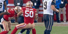 San Francisco 49ers Rookie LB Chris Borland Slams Rams RB Tre Mason for One of 18 Tackles