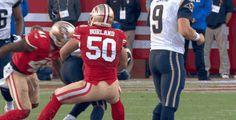 San Francisco 49ers Rookie LB Chris Borland Slams Rams RB Tre Mason for One of 18 Tackles