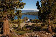 """Emerald Bay is one of the most photographed places in the country...the perfect background for a wedding ceremony, don't you think? Invite the pristine lake and natural beauty of the grand Sierra Nevada Mountains to your wedding and say """"I Do"""" on a bluff overlooking this captivating scene."""