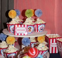 Circus Cupcakes by Violeta Glace