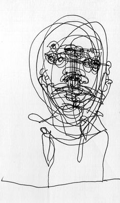 Unique gesture drawing of the face