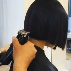 Perfect bob haircut using clippers by @joeltorresstyle We have a new video page! @hothairvids