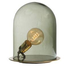 Glow In A Dome Tischleuchte S, Smoke/Messing - Ebb & Flow - Ebb & Flow - RoyalDesign.de