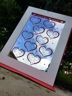 Plan de table mariage Miroir thème amour – Gravure laser Rouge – Imprimerie ICB Gravure Laser, Printing, Love, Red