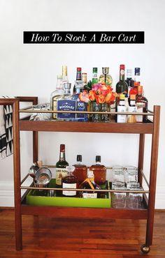 // How To Stock A Bar Cart @Jackie Godbold Nixon