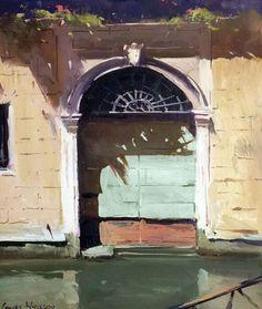 "Colley Whisson, Venetian Doorway, Italy. 12""x10"""