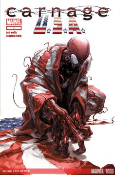Carnage is coming back to the Marvel Universe in the series Carnage USA! Written by Emmy award winning writer and marvel veteran Zeb Wells Comic Book Characters, Marvel Characters, Comic Character, Comic Books Art, Comic Art, Book Art, Ms Marvel, Marvel Dc Comics, Marvel Heroes
