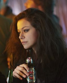 Tatiana as Sarah Manning in Orphan Black Orphan Black, Sarah Manning, Black Tv Shows, Tatiana Maslany, John Winchester, Nerd, I Have A Crush, Back To Black, Best Shows Ever