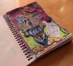 """Art Journal by *Silkku* """"Dream"""" silkkus.blogspot.fi Art Journal Pages, Handmade, Hand Made, Craft, Handarbeit"""