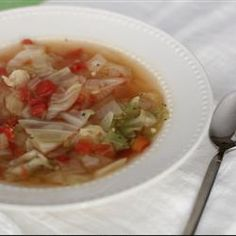 Healing Cabbage Soup http://allrecipes.com/recipe/healing-cabbage-soup/