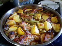 ΜΑΓΕΙΡΙΚΗ ΚΑΙ ΣΥΝΤΑΓΕΣ 2: Μπάμιες με κοτόπουλο και πατατούλες στο φούρνο !!!