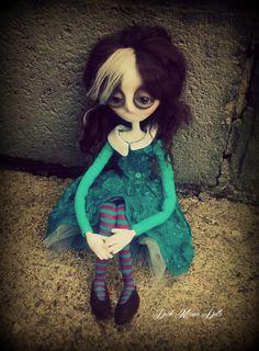 Gothic Art Doll: Petunia & Mr. Cuddles, OOAK Handmade Dark Manor Doll by DarkManorDolls on Etsy