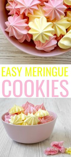 Get ready to create the perfect meringue with only 5 ingredients using this easy meringue cookies recipe. These cookies melt in your mouth! Easy Meringue Cookies, Meringue Cookie Recipe, Chocolate Chip Shortbread Cookies, Toffee Cookies, Spice Cookies, Yummy Cookies, Cookie Recipes, Dessert Recipes, Egg Desserts