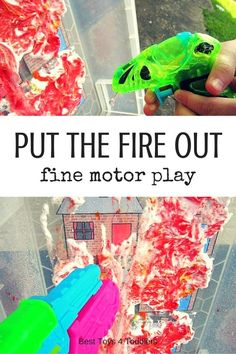 Best Toys 4 Toddlers – Put the fire out – great game for little firefighters to work on fine motor skills Source by jtemommy Fine Motor Activities For Kids, Motor Skills Activities, Preschool Activities, Work Activities, Family Activities, Toddler Preschool, Toddler Crafts, Toddler Classroom, Toddler Boys