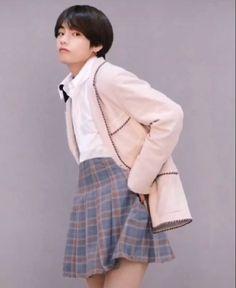 Kpop Boy, Taehyung, Boys, Skirts, Baby Boys, Children, Skirt Outfits, Senior Guys, Skirt