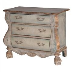 Versailles Distressed Gold Chest