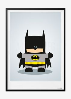 Børneplakat med Batman Superhero, Kids, Fictional Characters, Room, Batman Poster, Young Children, Bedroom, Boys, Rooms