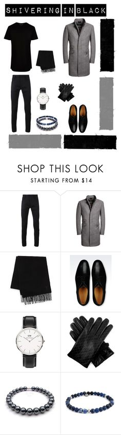 """""""Shivering in Black"""" by magiseaan ❤ liked on Polyvore featuring Haider Ackermann, Superdry, Yves Saint Laurent, Giorgio Armani, Daniel Wellington, Gucci, Tateossian, River Island, men's fashion and menswear"""