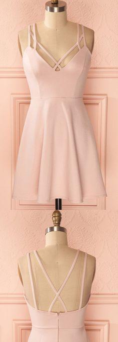 Short Prom Dresses, Pink Prom Dresses, Prom Dresses Short, Vogue Prom Dresses, Short Pink Prom Dresses, Pink Homecoming Dresses, Prom Short Dresses, Homecoming Dresses Short, Short Homecoming Dresses, Short Party Dresses, Sleeveless Homecoming Dresses, Criss-Cross Prom Dresses, Pleated Prom Dresses