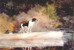 Dog on a log - Winslow Homer 1889  American 1836-1910