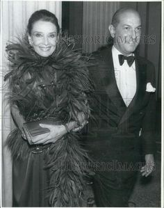 1989 Press Photo Actress Audrey Hepburn and Oscar de la Renta