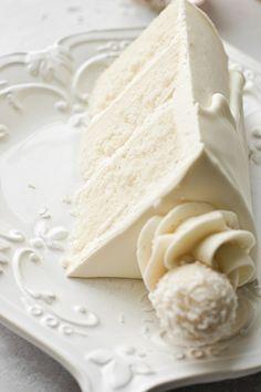 Chocolate Truffle Cake, White Chocolate Truffles, White Chocolate Buttercream, Chocolate Cream, High Altitude Cake Recipe, High Altitude Baking, Delicious Cake Recipes, Yummy Cakes, White Velvet Cakes