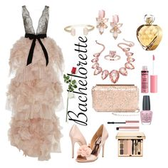 """Untitled #111"" by algena on Polyvore featuring Marchesa, Badgley Mischka, Oscar de la Renta, Thalia Sodi, Kate Spade, Charlotte Russe, OPI, Elizabeth Arden, Too Faced Cosmetics and Hanky Panky"