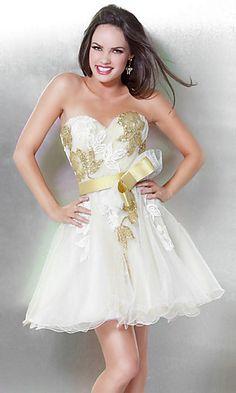 Short A-Line Jovani Dress at PromGirl.com