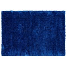 The luxuriously soft small Poodle rug in cobalt (190cm x 130cm) makes a striking statement. Price $98. Small Poodle, Toy Boxes, Cobalt, Primary Colors, Shag Rug, Color Blocking, Colours, Rugs, How To Make