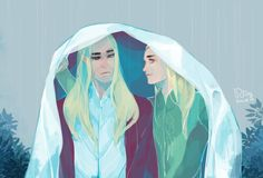 Thranduil and Legolas by woemeow on tumblr