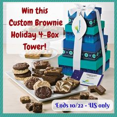 (Ends 10/22)  Africa's Blog:  Fairytale Brownies - Custom Brownie Holiday 4-Box Tower #Giveaway