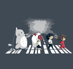 Ghibli Road T-Shirt | $11 Studio Ghibli tee from TeeFury today only!