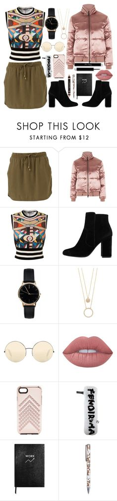 """""""Untitled #17"""" by milica-milicevic-1 ❤ liked on Polyvore featuring Topshop, Givenchy, MANGO, Freedom To Exist, Kate Spade, Victoria Beckham, Lime Crime, Rebecca Minkoff, Fendi and Sloane Stationery"""