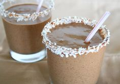 Chocolate Coconut Protein Smoothie