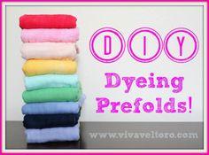 dyeing prefolds cloth diapers dylon dye
