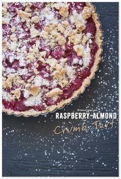 Raspberry-Almond Crumb Tart recipe   TeenieCakes.com