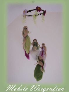 Fairy Mobile, waldorf inspried, needle felted,. €52.00, via Etsy.