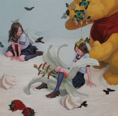 honey trap  2011  acryric,oil on canvas  162×162cm  Kazuhiro Hori