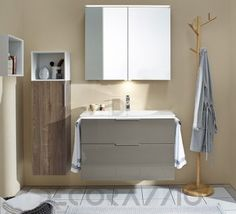 #bathroom #furniture #interior #design #interiordesign #designideas комплект в ванную Burgbad Eqio, SEYX092/SPGS090/UH3525