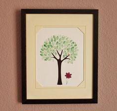 finger print art tree