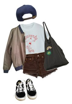 """""""sk8"""" by aliennbby on Polyvore featuring Levi's, Laneus, Georgia Perry, Vans and O'Neill"""