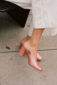 Salmon Colored Mules