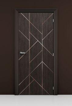 Geometric Modern Lines Door Mural Wallpaper Flush Door Design, Home Door Design, Pooja Room Door Design, Bedroom Door Design, Door Design Interior, Wooden Door Design, Main Door Design, Modern Wood Doors, Contemporary Doors