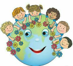 Illustration about Children hugging planet Earth. Contains transparent objects. Illustration of flower, couple, braids - 40648701 Happy Children's Day, Happy Kids, Art For Kids, Crafts For Kids, Earth Day Crafts, School Decorations, Child Day, Pre School, Clipart