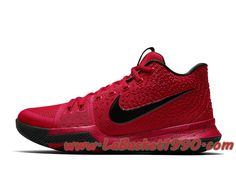 factory authentic 0f520 c5453 Nike Kyrie 3 University Red 852395-600 Chaussures Nike Basket Pas Cher Pour  Homme Rouge