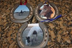 Horse Shoe Photo Frame with rockstars old horseshoes